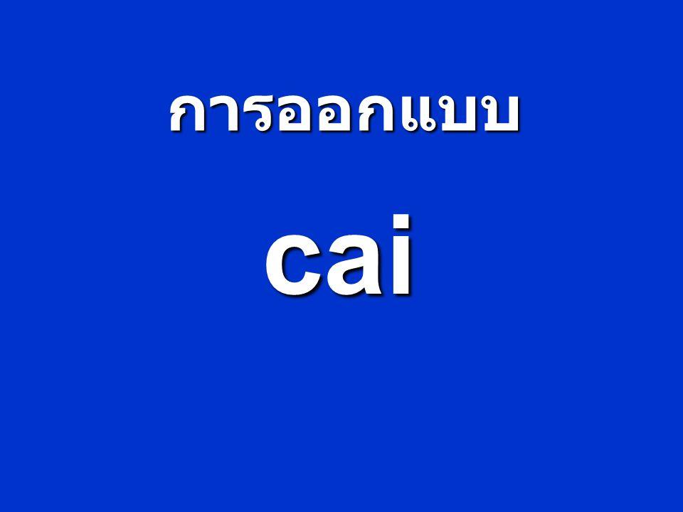 อะไรทำให้ CAI ดีและน่าสนใจ 1.มีคำแนะนำการใช้ที่เข้าใจง่าย 2.