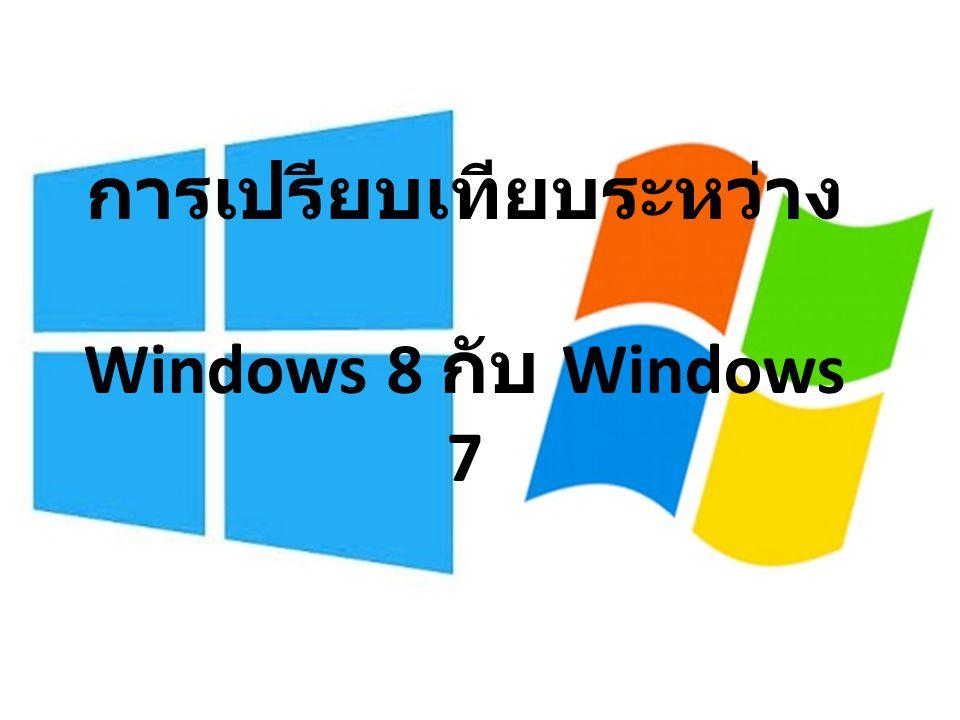 การเปรียบเทียบระหว่าง Windows 8 กับ Windows 7