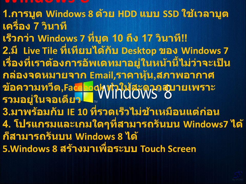 ความคิดเห็นส่วนตัว ในความคิดเห็นส่วนตัวของผมคิด ว่าการ Windows 7 มีการใช้งานที่มี ความเสถียรมากกว่า Windows 8 อยู่ แต่ในอนาคต Windows 8 ก็เป็น ที่น่าน่าสนใจเพราะ Windows 8 ยัง มีการพัฒนาอย่างต่อเนื่อง