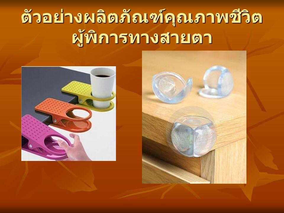 ตัวอย่างผลิตภัณฑ์คุณภาพชีวิต ผู้พิการทางสายตา
