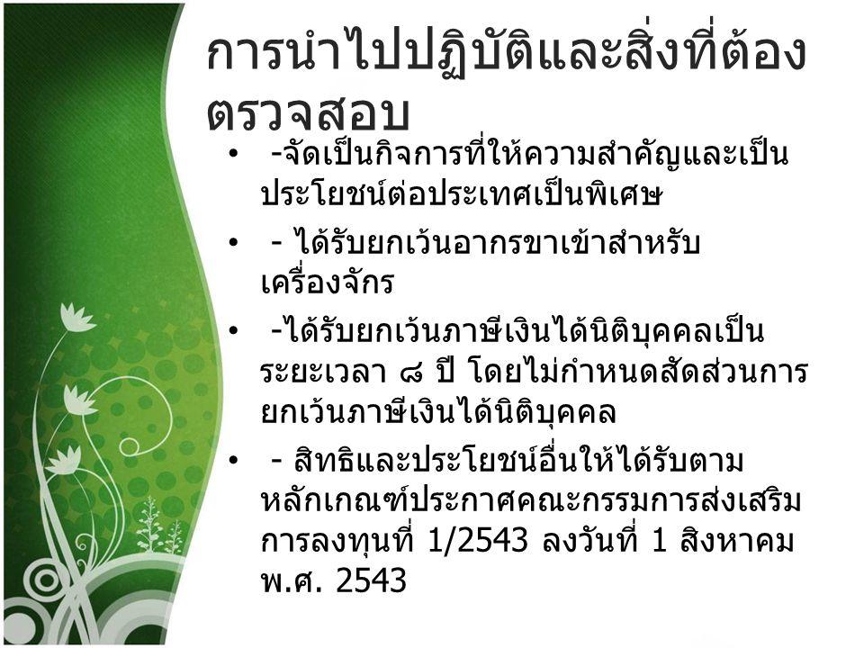 การนำไปปฏิบัติและสิ่งที่ต้อง ตรวจสอบ 2.2 กิจการผลิตผลิตภัณฑ์ที่เป็นมิตรต่อ สิ่งแวดล้อม (Eco - FriendlyProducts) 6.18.1 บรรจุภัณฑ์ที่เป็นมิตรต่อ สิ่งแวดล้อม 6.18.2 ผลิตภัณฑ์จากพลาสติกหรือโพลิ เมอร์ที่เป็นมิตรต่อสิ่งแวดล้อม - จะต้องเป็นบรรจุภัณฑ์หรือผลิตภัณฑ์ที่ ขึ้นรูปจาก พลาส ติกหรือโพลิเมอร์ซึ่งมี ผลกระทบต่อสิ่งแวดล้อมโดยรวมตลอด วงจรชีวิตน้อยลงซึ่งสามารถประเมินการ ลดผลกระทบต่อสิ่งแวดล้อมโดยรวม โดย วิธีการประเมิน Life Cycle Assessment (LCA) ตามมาตรฐาน ISO (ISO 14040 series) หรือตามมาตรฐานที่กำหนดโดย สำนักงานมาตรฐาน ผลิตภัณฑ์อุตสาหกรรม