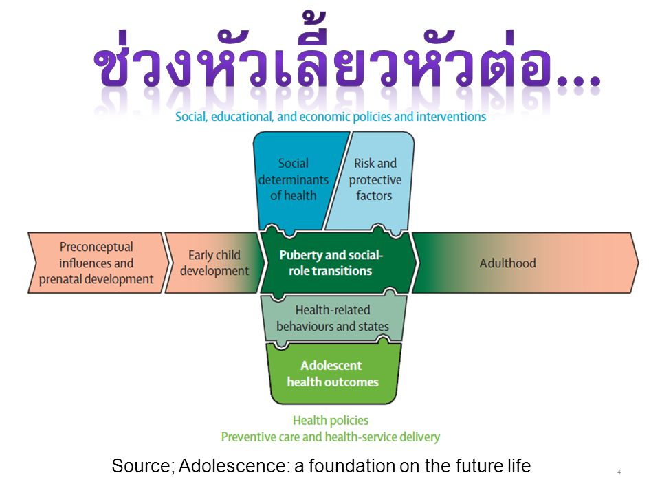 4 Source; Adolescence: a foundation on the future life