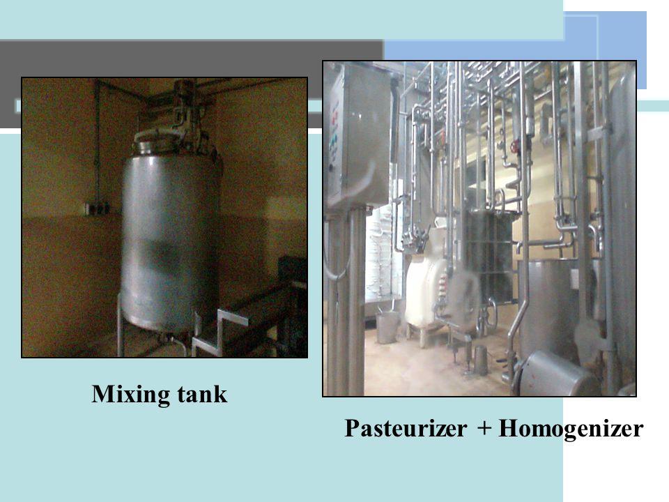 Mixing tank Pasteurizer + Homogenizer
