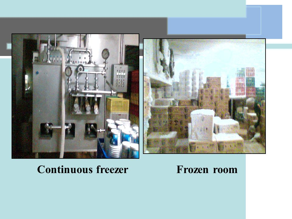 Continuous freezerFrozen room