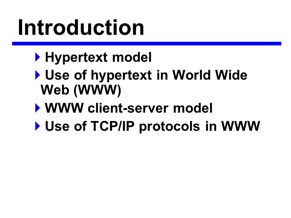 Hypertext/hypermedia  ระบบ Hypermedia ประกอบด้วยเอกสาร ที่ผู้ใช้สามารถ เรียกใช้ได้ – Text (hypertext ) – Graphics – Sound – Animations – Video  เอกสารเหล่านี้จะถูกเชื่อมโยงด้วยกัน – Nondistributed - เอกสารเก็บภายใน ( เช่น CD-ROM) – Distributed - เอกสารจัดเก็บใน remote servers