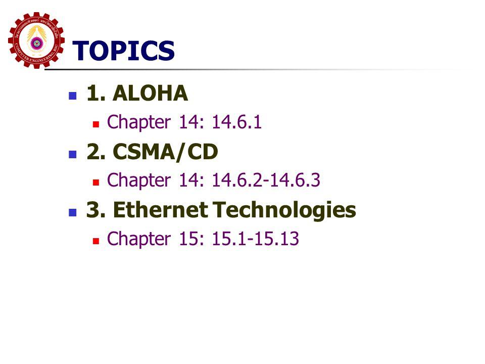 TOPICS 4.Repeater/Bridges Chapter 17: 17.1-17.6 5.