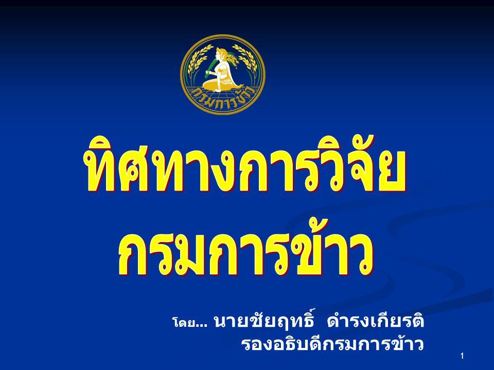 12 ประชุมวิชาการข้าวและธัญพืช เมืองหนาว ประกวดผลงานวิจัยของกรมการข้าว จัดงานวันวิจัยข้าวไทย : พลิกวิกฤตข้าวโลก
