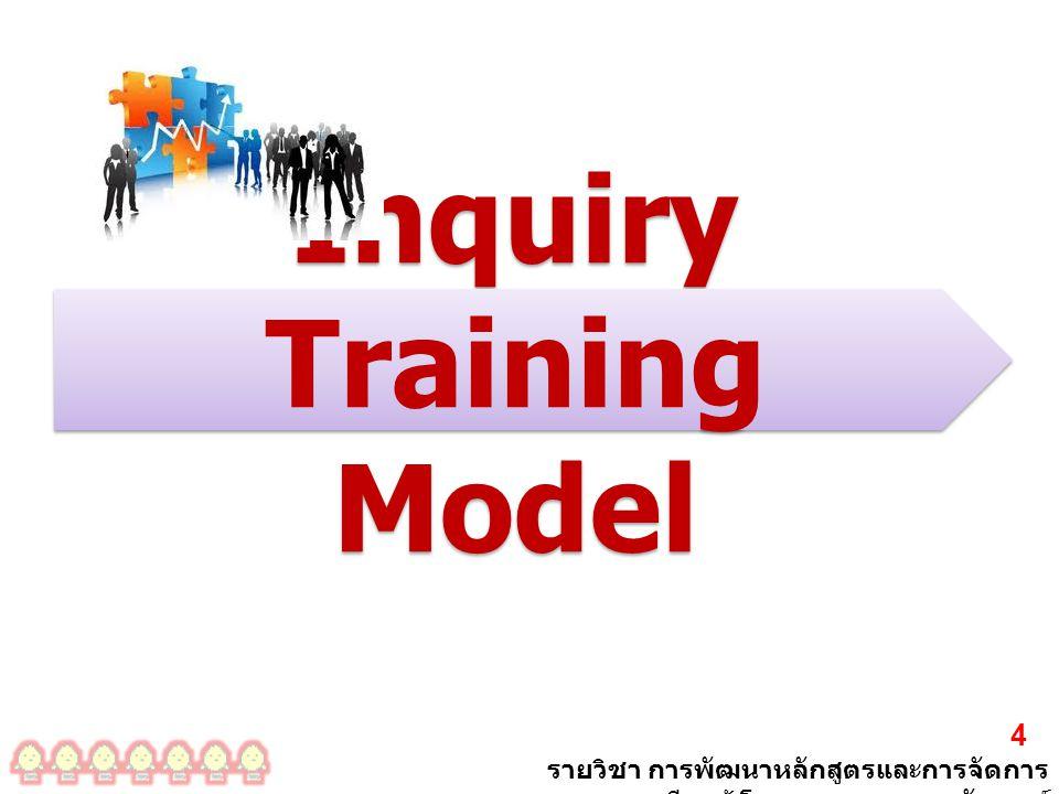 รายวิชา การพัฒนาหลักสูตรและการจัดการ เรียนรู้ โดย ผศ. ดร. เรขา อรัญวงศ์ 4 Inquiry Training Model