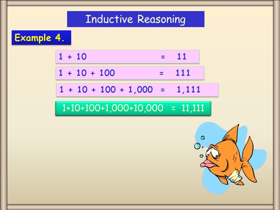 Inductive Reasoning Example 4.