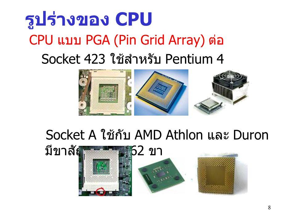 9 CPU จากค่ายต่าง ๆ สมัยก่อนผู้นำตลาด CPU สำหรับ ไมโครคอมพิวเตอร์ได้แก่ Intel Corp.