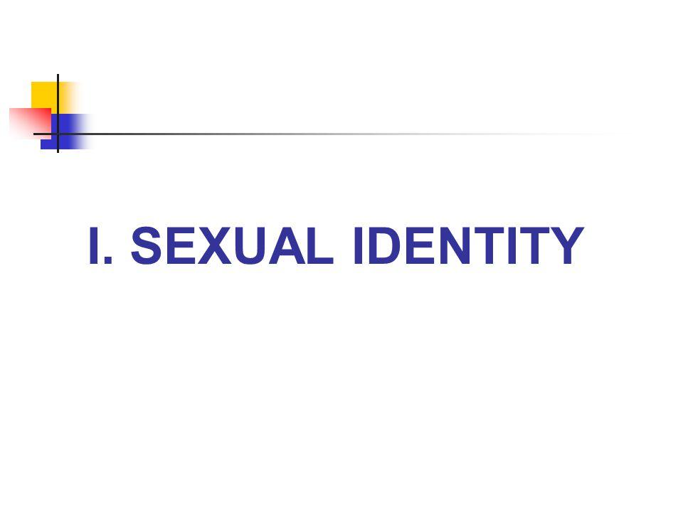 I. SEXUAL IDENTITY