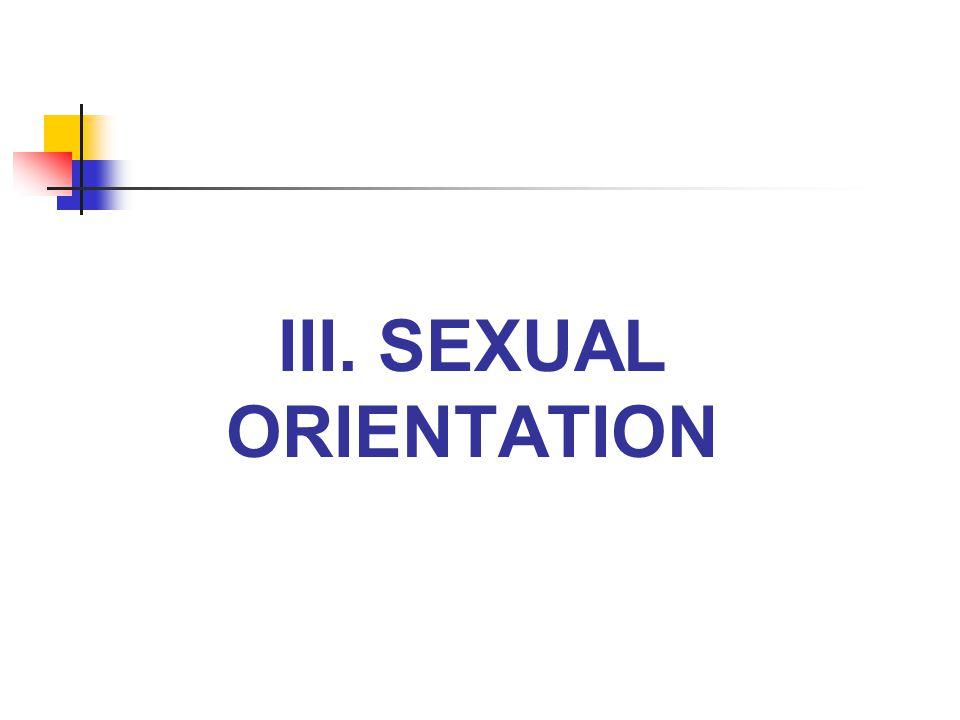 III. SEXUAL ORIENTATION