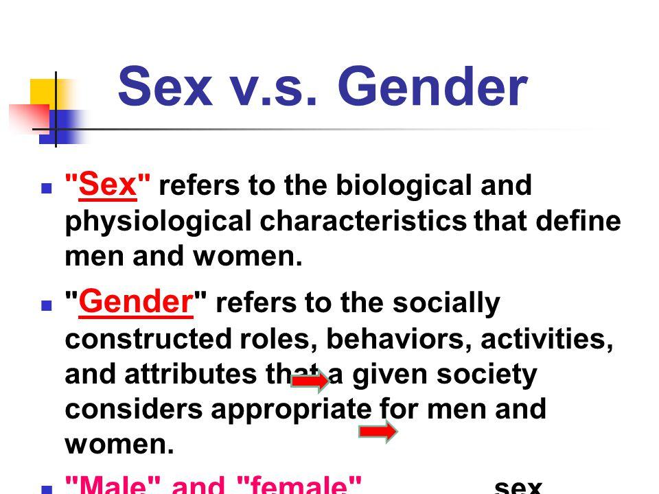 Sex v.s.