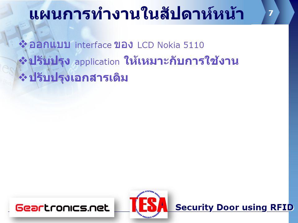 8 Security Door using RFID Picture