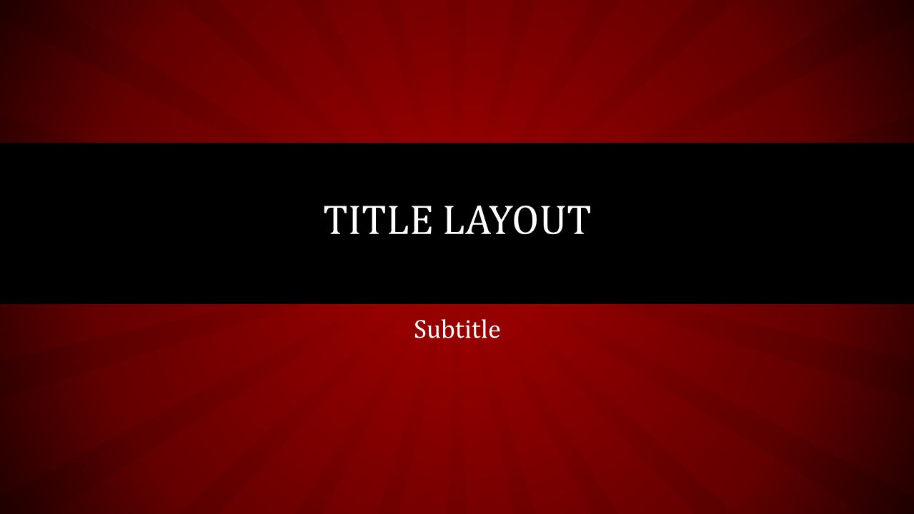 Subtitle TITLE LAYOUT