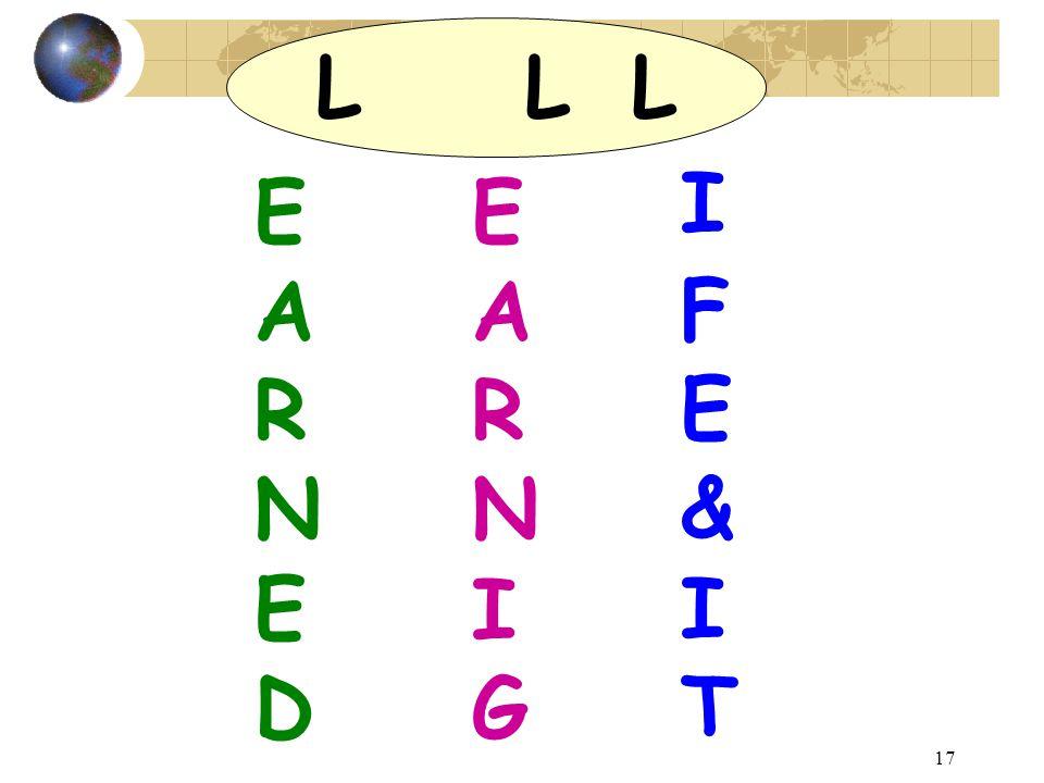 17 LLLLLL EARNEDEARNED EARNIGEARNIG IFE&ITIFE&IT