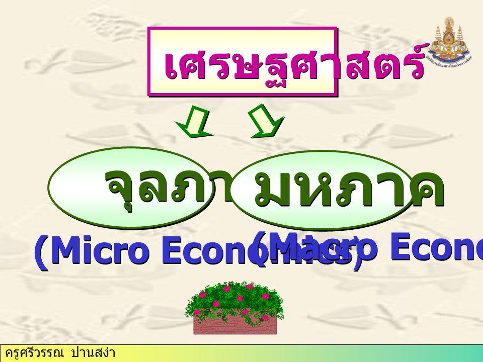 ครูศรีวรรณ ปานสง่า จุลภาค เศรษฐศาสตร์ มหภาค (Micro Economics) (Macro Economics)