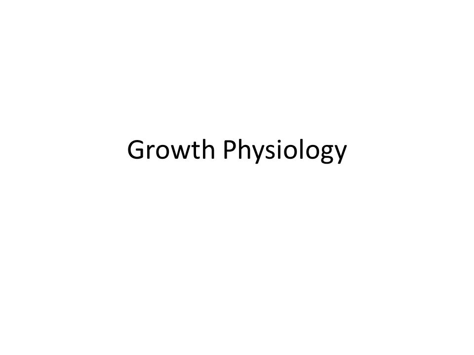 Growth Physiology