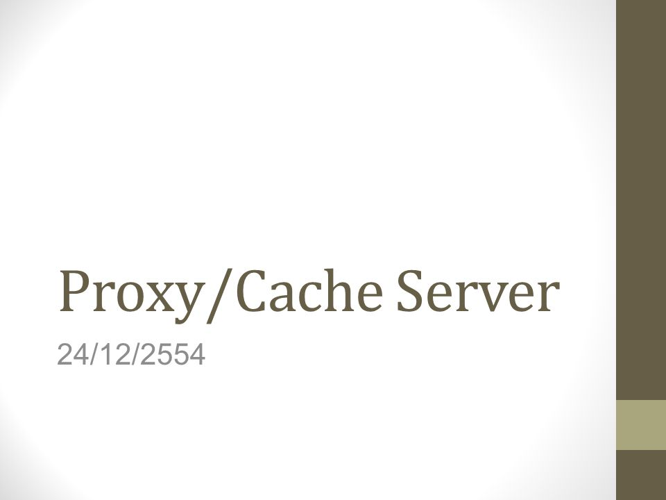 Proxy/Cache Server 24/12/2554