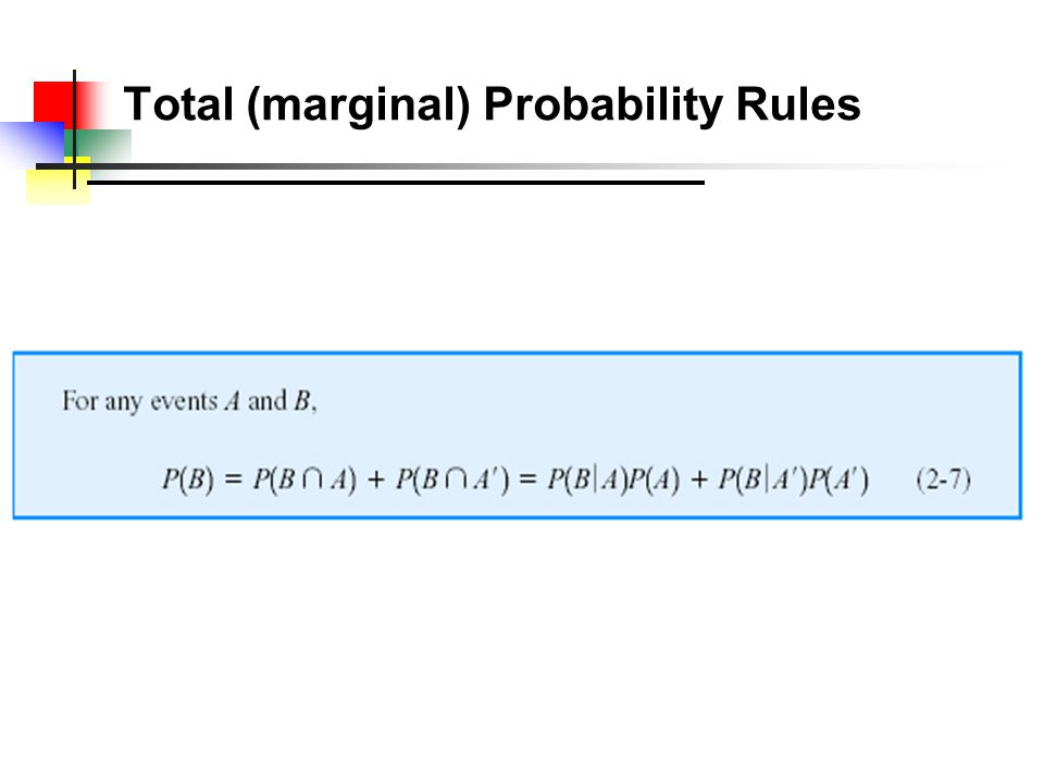 Total Probability Rules Example 4