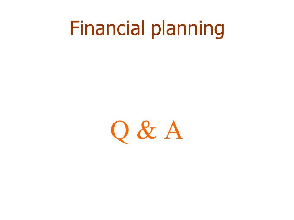 Financial planning Q & A