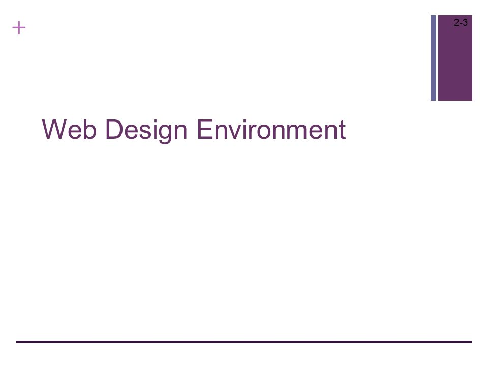 + Web Design Environment 2-3