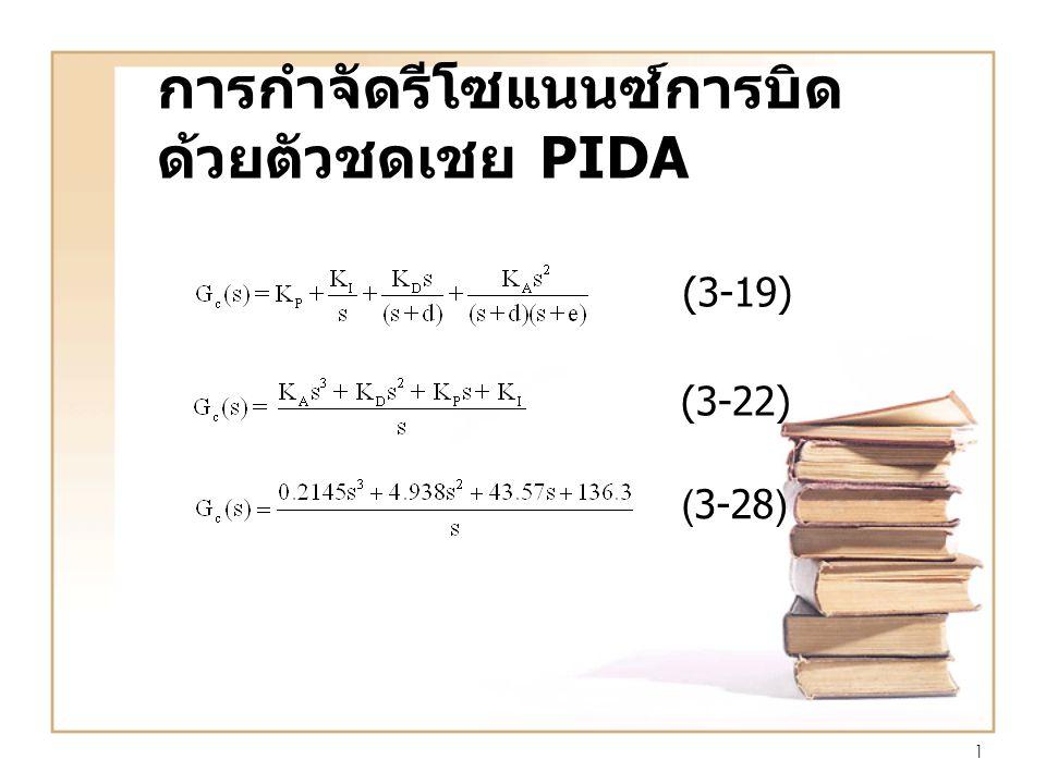 1 การกำจัดรีโซแนนซ์การบิด ด้วยตัวชดเชย PIDA (3-22) (3-28) (3-19)
