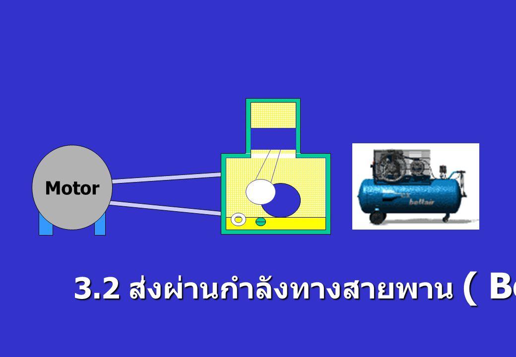 Motor 3.2 ส่งผ่านกำลังทางสายพาน ( Belt Drive )