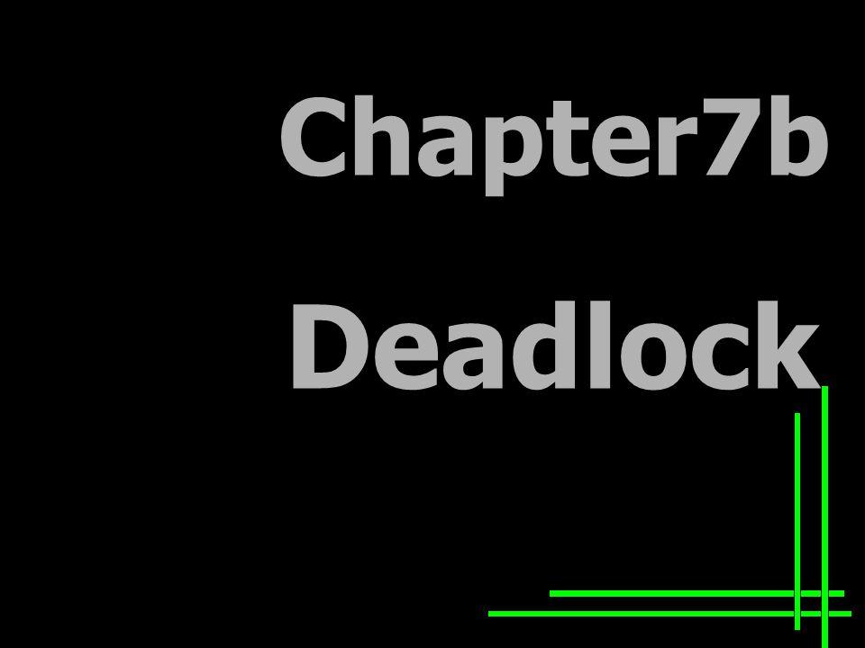 Chapter7b Deadlock
