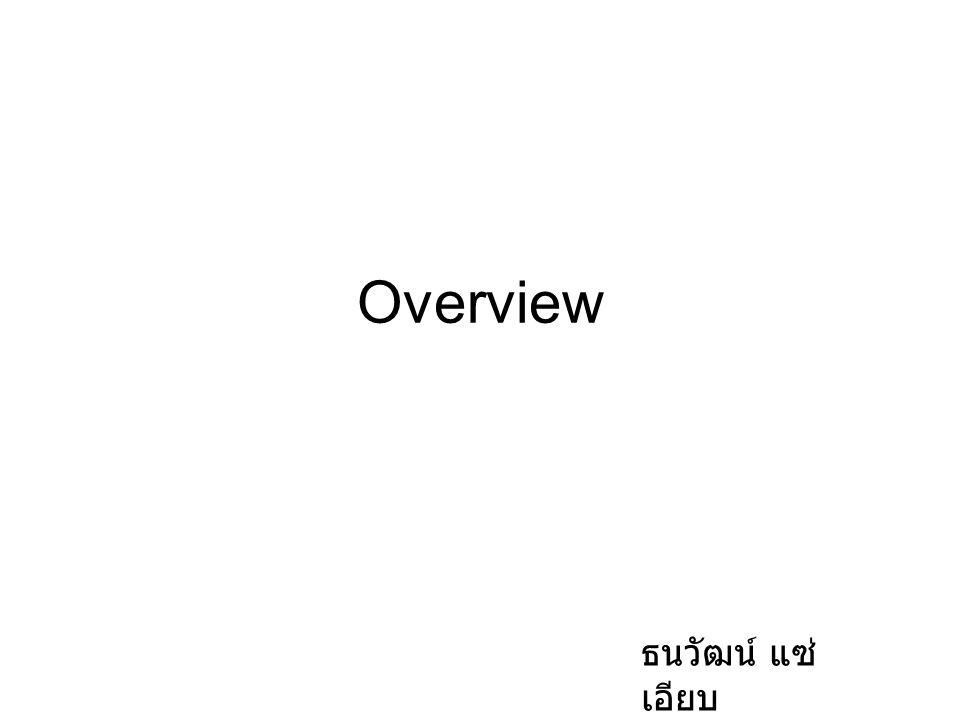 Overview ธนวัฒน์ แซ่ เอียบ