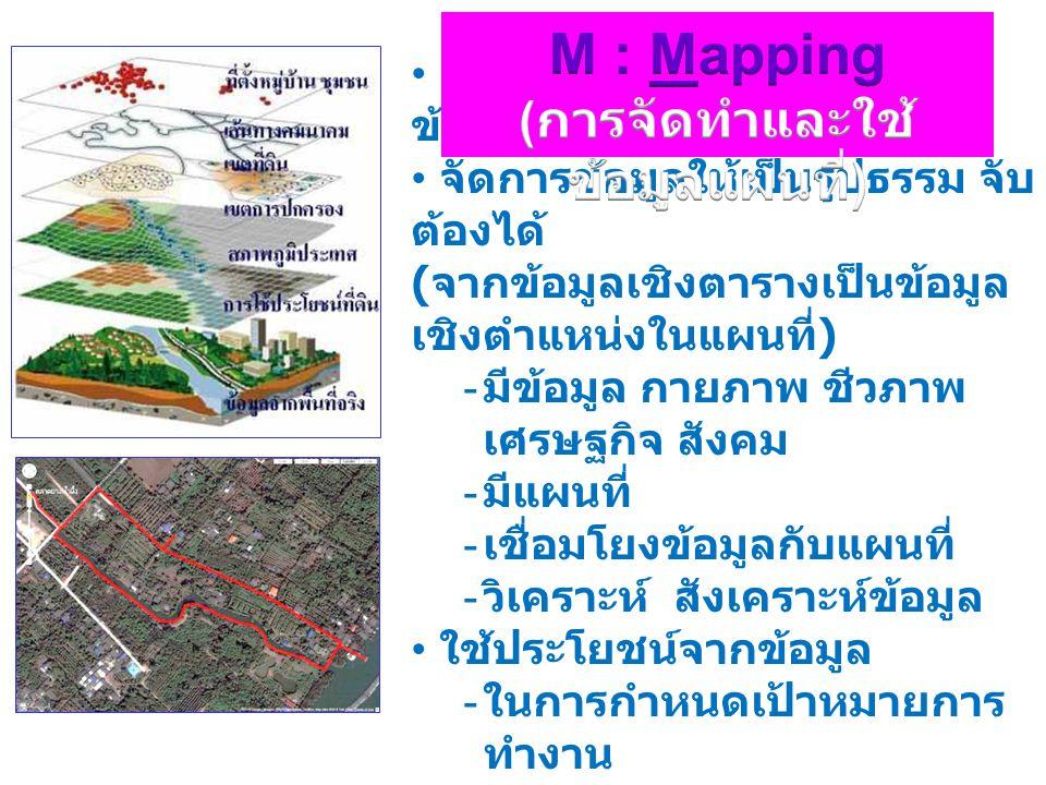 การนำแผนที่และ ข้อมูลต่างๆมา ซ้อนทับกัน เช่น แผนที่ภูมิประเทศ แผนที่ดิน แผนที่แม่น้ำ แผนที่ชลประทาน แผนที่ขอบเขต การปกครอง ข้อมูลต่างๆ Out put 9