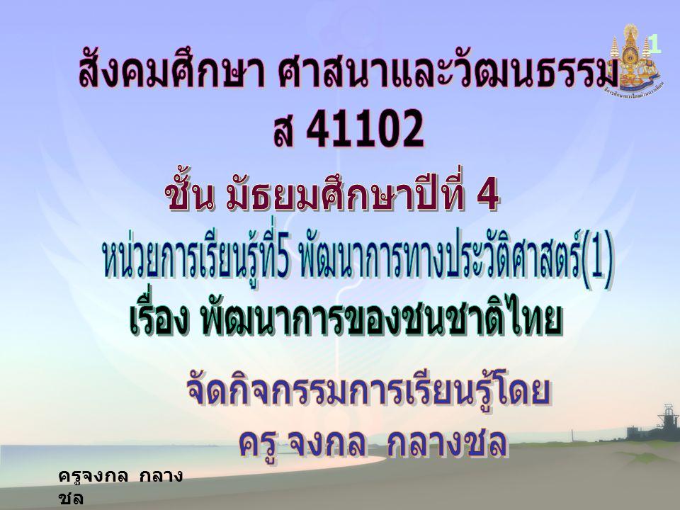 ผลการเรียนรู้ ที่คาดหวัง รู้และเข้าใจปัจจัยทาง ภูมิศาสตร์ที่มีผลต่อพัฒนาการ ของผู้คนบนผืนแผ่นดินไทยและ พัฒนาการของชาติไทย 2