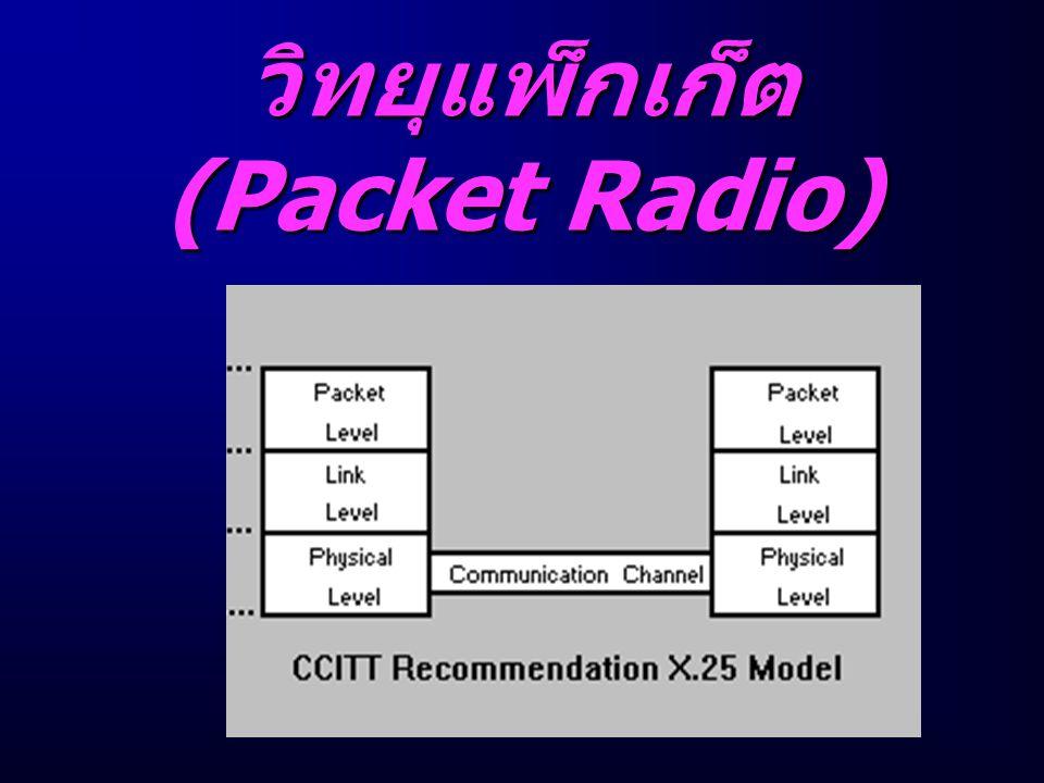 วิทยุแพ็ก เก็ต (Packet Radio)