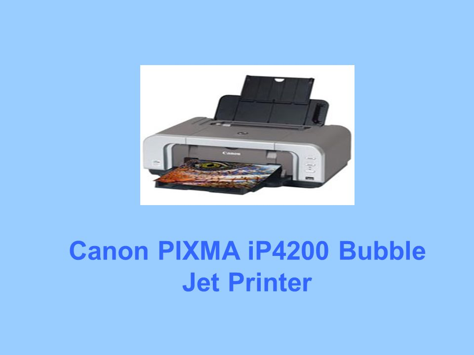 Canon PIXMA iP4200 Bubble Jet Printer