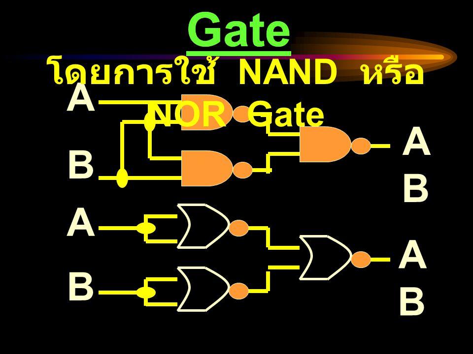 การสร้าง NOT Gate A AA A โดยการใช้ NAND หรือ NOR Gate