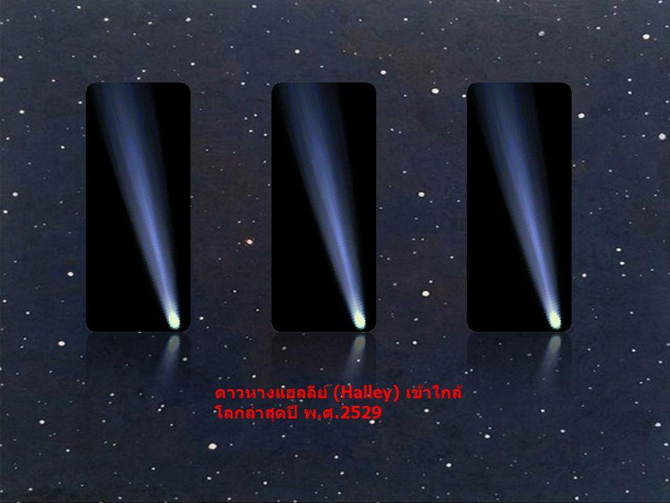 ดาวหางแฮลลีย์ (Halley) เข้าใกล้ โลกล่าสุดปี พ. ศ.2529