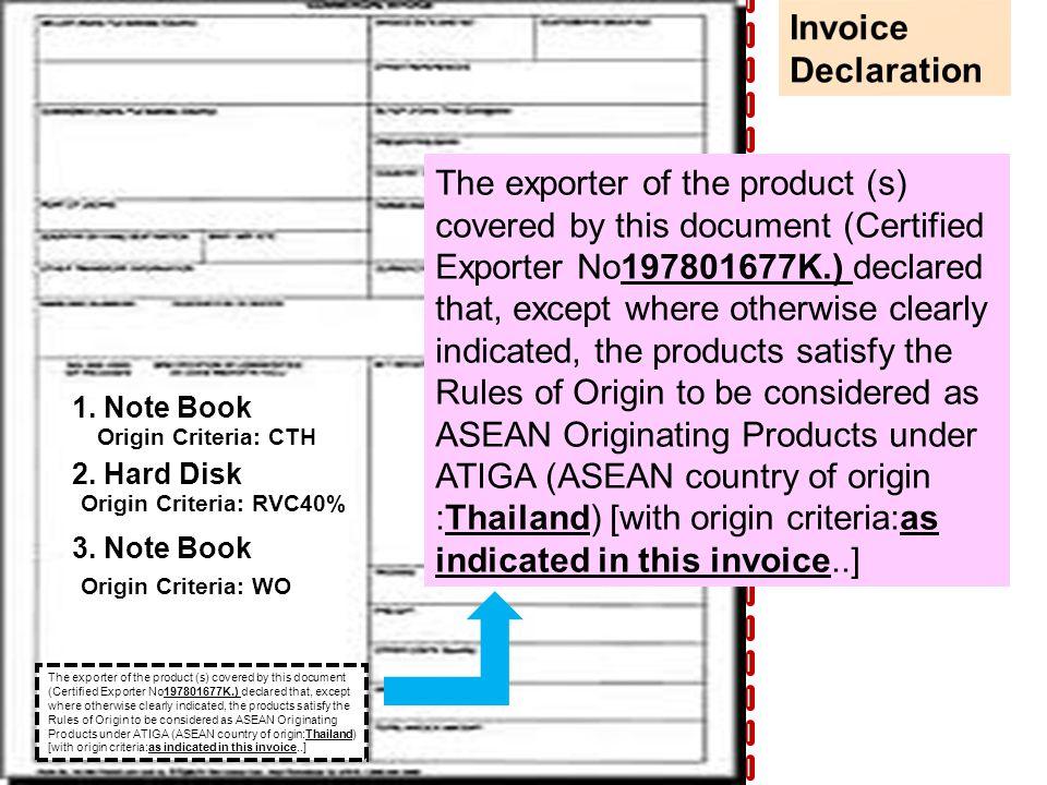 1.Note Book Origin Criteria: CTH 2.