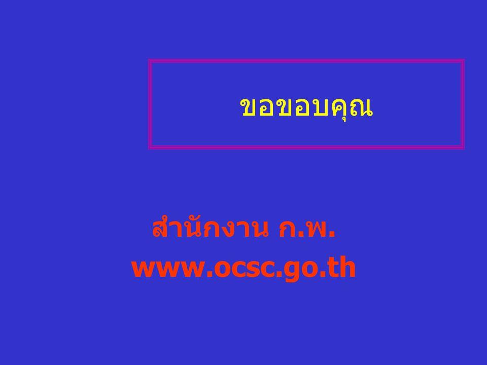 ขอขอบคุณ สำนักงาน ก.พ. www.ocsc.go.th