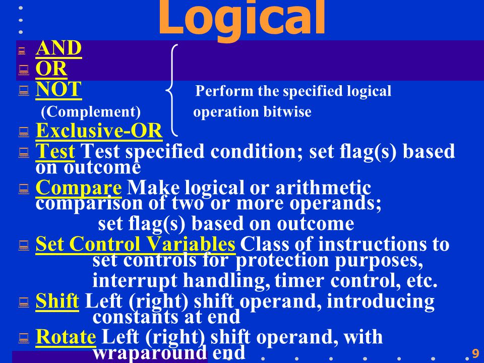 19 Transfer of Control  Branch (Conditional, Unconditional)