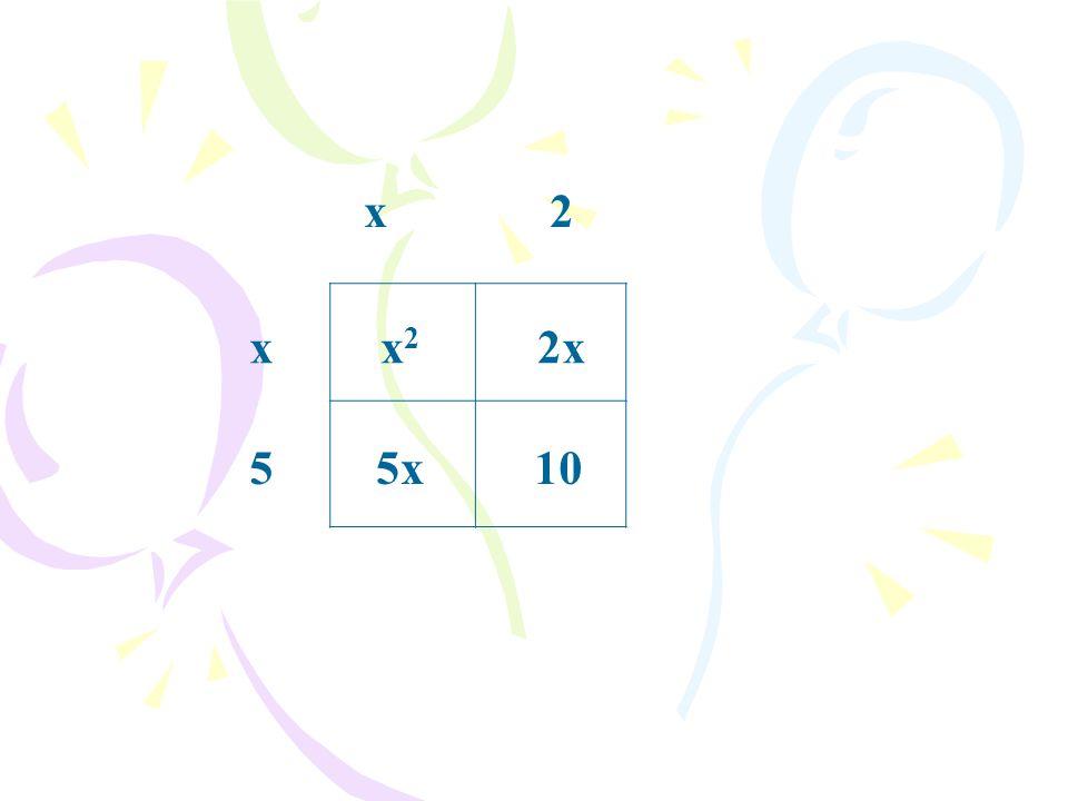 x2 5 xx2x2 105x 2x