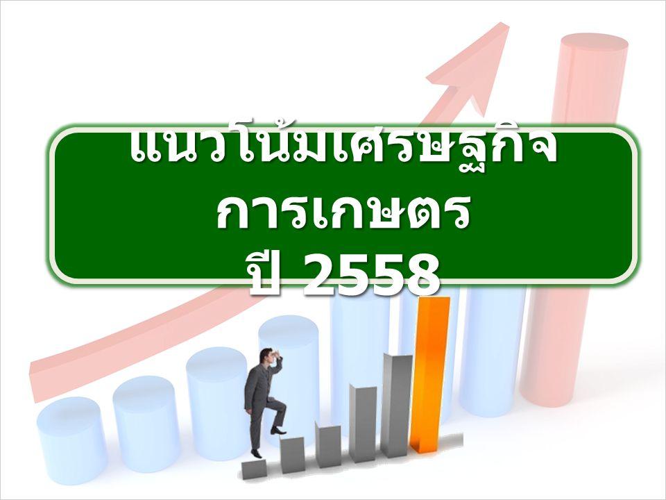 แนวโน้มเศรษฐกิจ การเกษตร ปี 2558 แนวโน้มเศรษฐกิจ การเกษตร ปี 2558