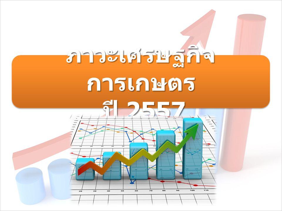 ภาวะเศรษฐกิจ การเกษตร ปี 2557 ปี 2557 ภาวะเศรษฐกิจ การเกษตร ปี 2557 ปี 2557
