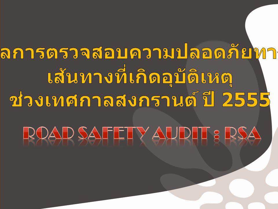 อุบัติเหตุบนทางหลวงชนบทช่วงเทศกาล สงกรานต์ อุบัติเหตุ 98 ครั้ง ผู้บาดเจ็บ 106 ราย