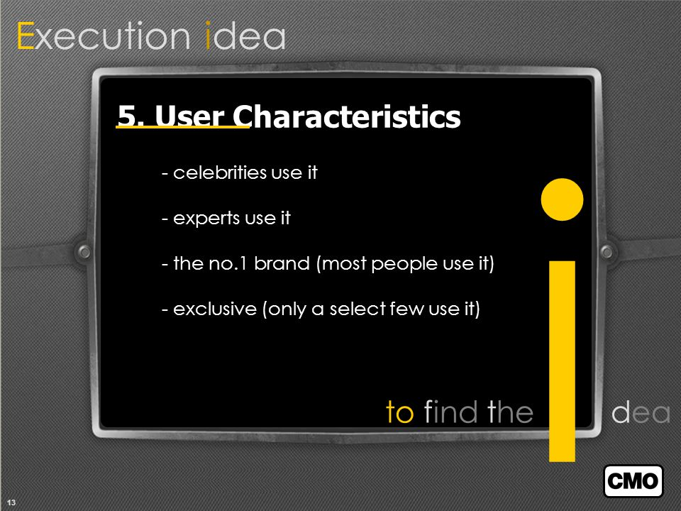 13 Execution idea to find the dea 5.