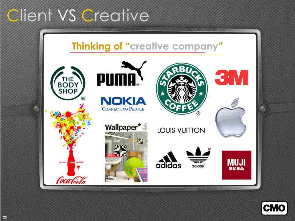 22 Thinking of creative company Client VS Creative