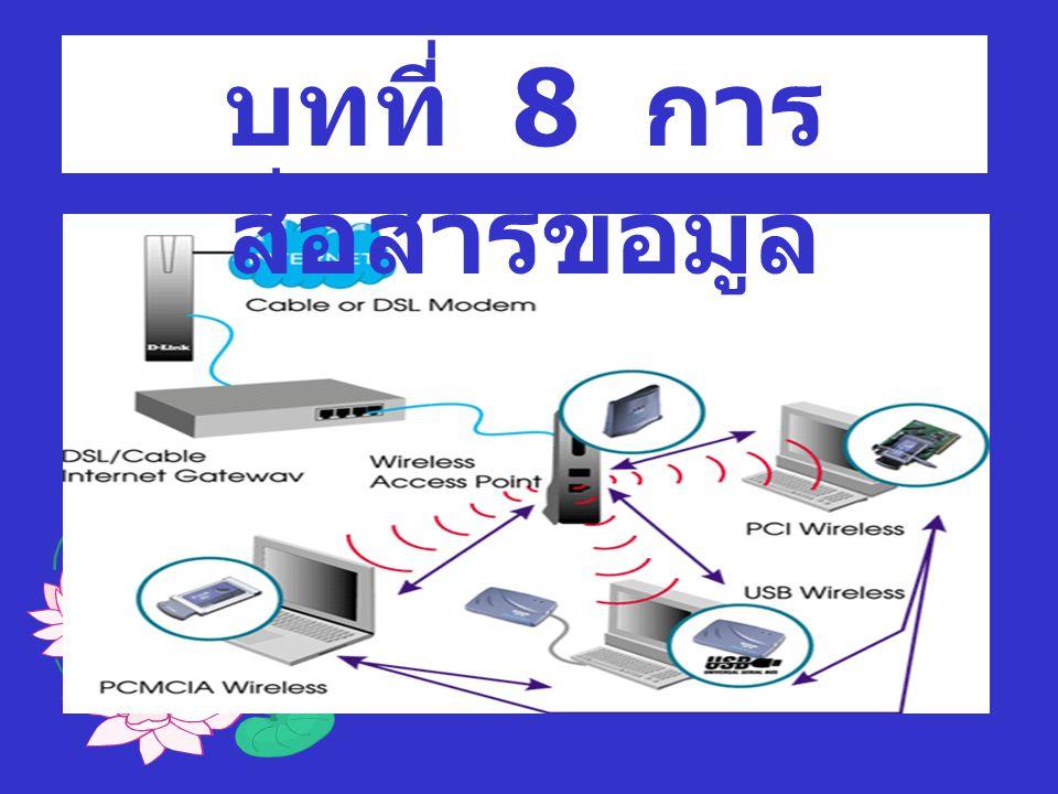 องค์ประกอบของการ สื่อสาร 1.หน่วยส่งข้อมูล (Sending Unit) 2.