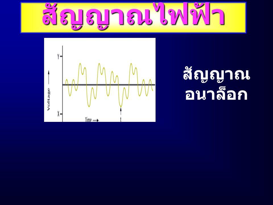 สัญญาณไฟฟ้า สัญญาณ อนาล็อก