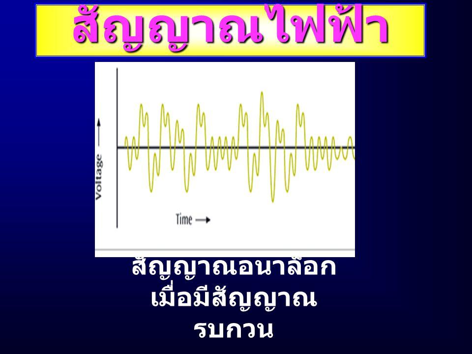 สัญญาณไฟฟ้า สัญญาณอนาล็อก เมื่อมีสัญญาณ รบกวน