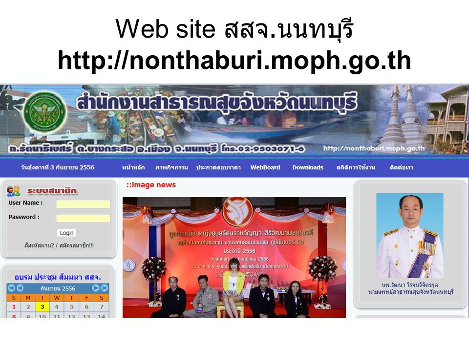 Web site สสจ. นนทบุรี http://nonthaburi.moph.go.th