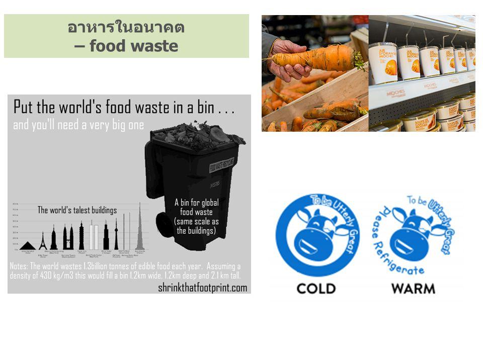อาหารในอนาคต – food waste